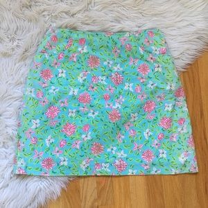 Lilly Pullizer Floral Cotton Skirt